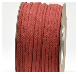TERRACOTTA COLOURED COTTON MAGICIANS ROPE 10MM DIAMETER