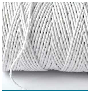 SOLID BAKERS TWINE - SNOW WHITE