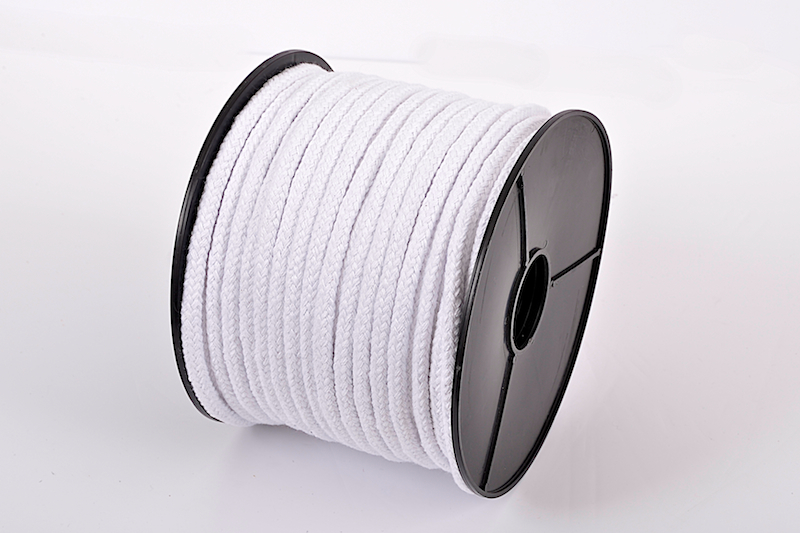 BLEACHED BRAIDED COTTON PIPING CORD - 6MM X 100M