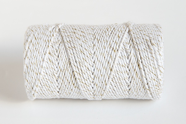 SPARKLE Bakers Twine - WHITE /GOLD