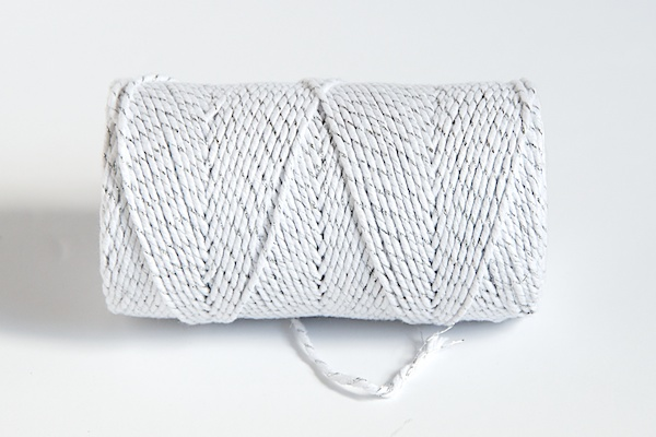 SPARKLE Bakers Twine - WHITE /SILVER
