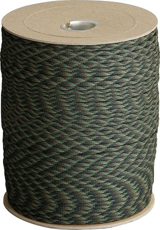 US 550 PARACORD WOODLAND CAMO 25M