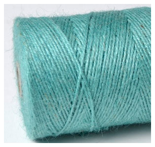 COLOURED JUTE TWINE - AQUA BLUE