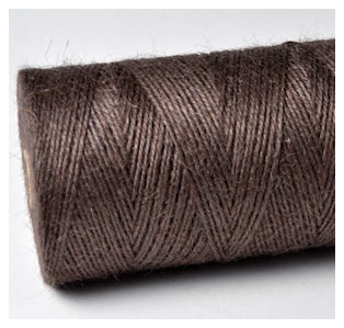 COLOURED JUTE TWINE - CHOCOLATE BROWN