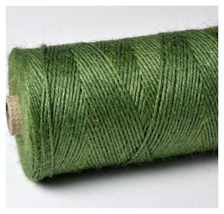 COLOURED JUTE TWINE - FOREST GREEN